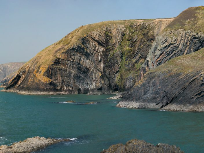 Contorted strata at Ceibwr