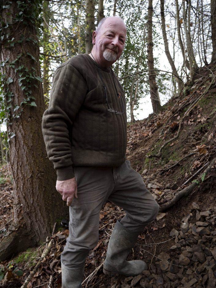 Dr R. Kennedy at Ty-Issaf Mawr near Welshpool